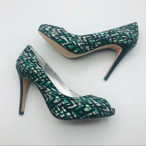 "DKNY peep toe pumps 4"" heel size 7 NWOT"